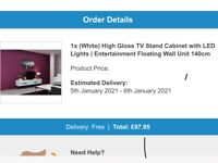 Brand New Wall Mounted Floating TV Stand 140cm Wide