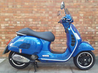 Vespa GTS 125cc (15 REG) Blue, Excellent condition, only 2233 miles, One owner from new