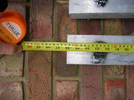 "Plasterers Dry liners straight edges 2 @ 56"" .. 1 @ 85"" 3 x 2 inch aluminium box. Used"