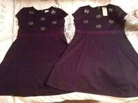 OSHKOSH dresses x 2 - navy - age 8