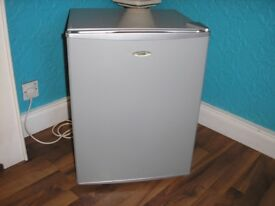 silver table top fridge