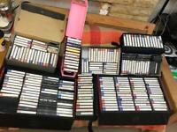 Around 200 Audio Compact Tape Cassettes and 5 cases
