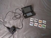 Nintendo 3DS Black with 7 games