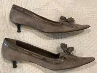 2 pairs of L K Bennet suede Heels (black and grey) size 42 in excellent condition