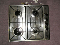 New World Gas Hob – Stainless Steel, 4 Rings, Mains Spark Ignition