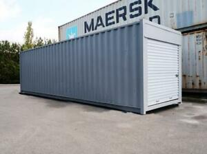 30 Ft Standard Shipping Container W/ Roll-up Door