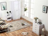 Best Quality-----Alina 2 Door Wardrobe With Alina Bed Room Complete Set