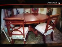 Cheap. Dining table and 5 chairs. Collect today cheap