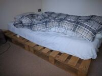 Double Pallet Bed and Silent night Mattress