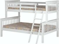 New strong white wood Triple bunk beds £299 AVAILABLE TODAY LAST SET