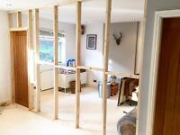 Qualified plasterer & stud wall builder covering Harrogate, York and Leeds