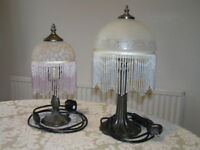 Two beaded glass table lamps