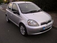TOYOTA YARIS CDX,1.3. AUTOMATIC ,2002, 5 DOOR,EXCELLENT ON DRIVE