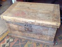 Shabby Chic Antique Vintage Chest or Coffer with drawers within 85cm x 80cm x 55cm