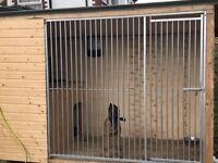 Brand new made to order galvanised dog run/sleeping box