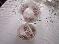 Vintage Queen Anne bone china trio