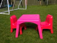 ELC childrens table and chairs cost £40