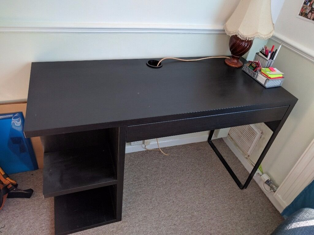 Ikea Micke Desk With Drawer And Shelves In Oxford