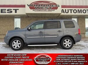 2010 Honda Pilot Shadow Grey Touring Edition 4x4, Leather, Sunro