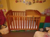 Mamas and papas cot and changer