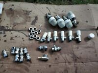 Plumbing job lot 4 simens thermostat 6 lockshield valves bleeding valves