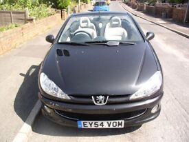 Peugeot 206cc with 11 months MOT and new cam belt at 91400 miles