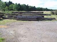 beams, pitch pine