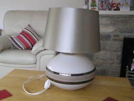 Ceramic table lamp and shade