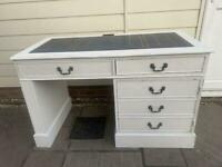 Shabby Chic style Desk with keyboard pull out, drawer and cupboard with shelf