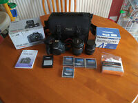 Canon EOS 500D 18-55 Kit Plus Tamron 18-250 Lens