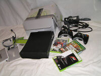 Xbox 360 (120 GB), 2 CONTROLLERS AND 3 GAMES