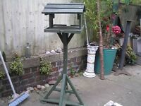 bird table. well constructed not carcassing timber