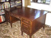 Vintage double pedestal school teacher's/ office desk