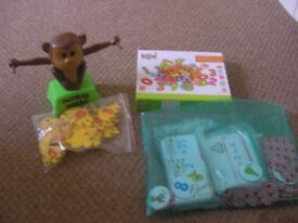 Monkey Maths, Magnetic Numbers and Chad Valley times tables and English Cards - Educational Games