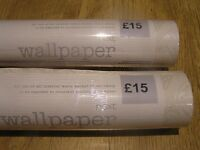 WALLPAPER BY NEXT X2 ROLLS MAGMOLIA WITH SILVER LEAF PATTERN
