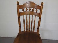 Good quality solid oak chairs x 4
