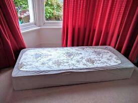 Single bed divan + cover