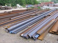 STEEL GIRDERS, RSJ, BOX SECTION, ANGLE IRON, STEEL TUBE, FLAT BAR, CHANNEL IRON, ARMCO CRASH BARRIER