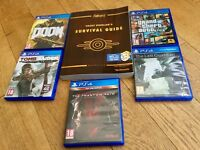 Last Guardian, Doom, GTA V, Tomb Raider and Metal Gear V plus Fallout book