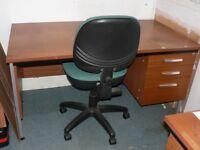 Single pedestal desk and swivel chair - might split!