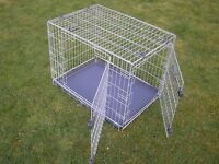 """Medium size """"Rosewood"""" dog crate / cage. Folds flat for storage. Plastic tray. Perfect condition."""