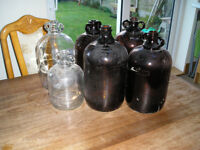 Home brew one gallon glass demijons