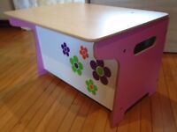 Millhouse Children's Flower Toy Box & Desk by For Sale