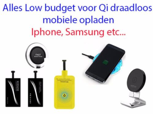 Qi draadloos oplader mobiele telefoon charger Low-budget