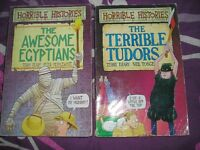 2 HORRIBLE HISTORIES BOOKS