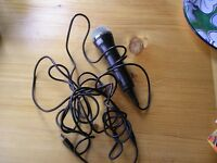 Wii Accessories including 2 guitars, microphone and 2 steering wheels