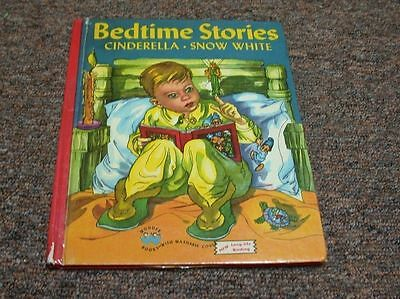 VINTAGE WONDER BOOK, BEDTIME STORIES CINDERELLA – SNOW - Bedtime Stories Snow White