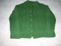 Ladies Hand Knit Aran Cardigan