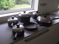 6 Piece Circulon Aluminium Non-stick Saucepan and Frying Pan Set