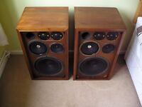 LARGE Floorstanding Sansui SP-1500 Stereo 5-Way Vintage Speakers